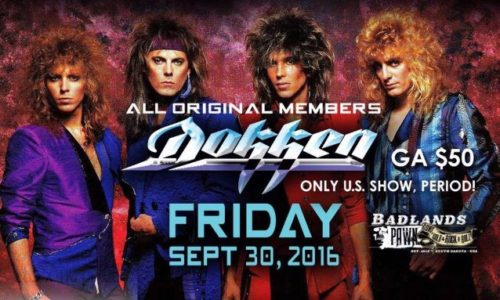 Dokken Badlands Show 2016