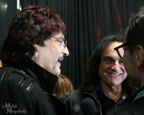 Carmine and Vinny Appice doing an interview before the ceremony