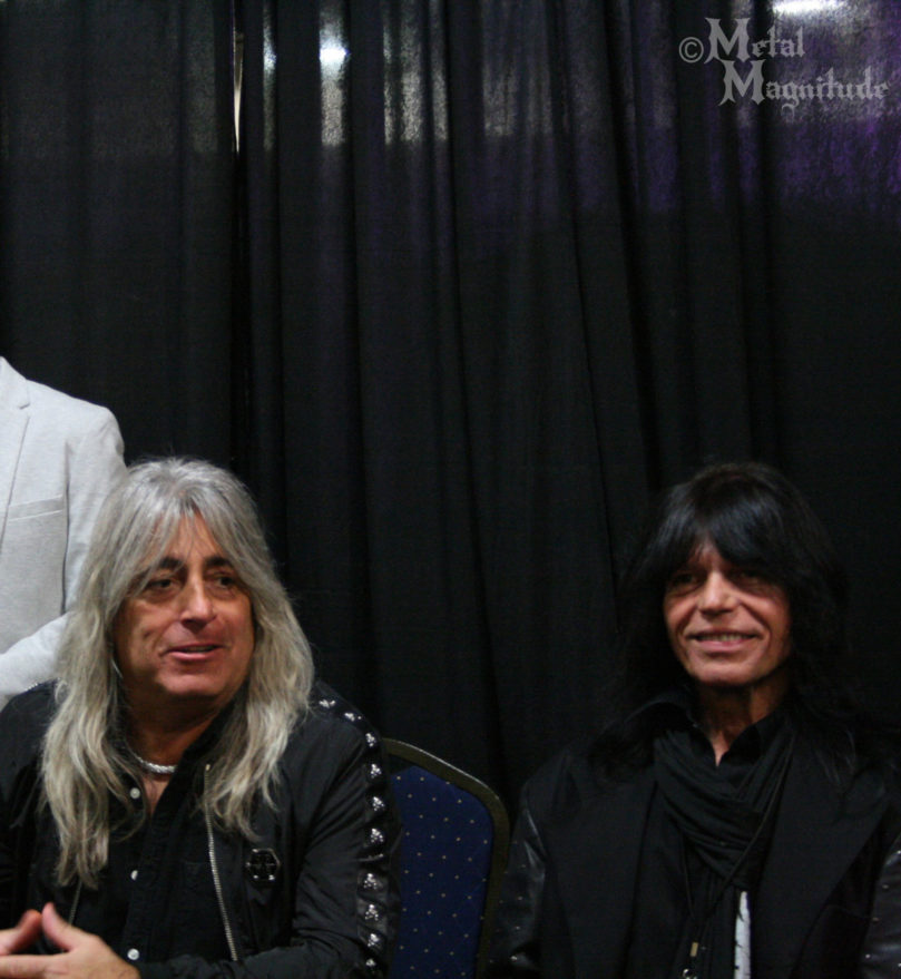 Mikkey Dee and Rudy Sarzo during the press conference